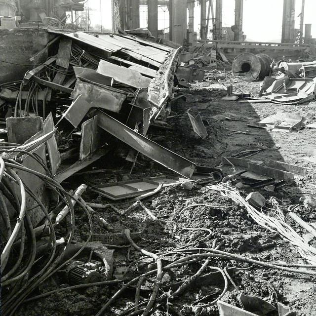 Demolition of a steel plant