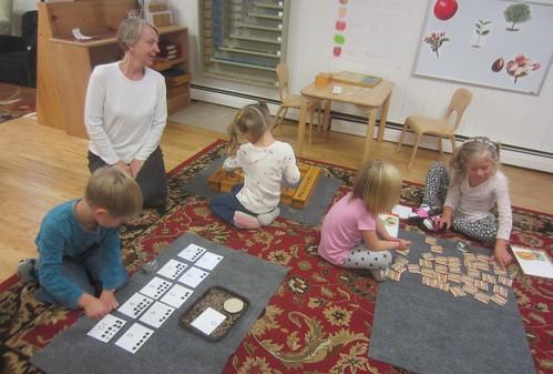 sensorial & math work