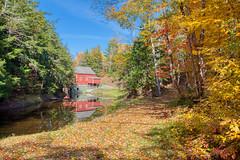 Fall at the Balmoral Grist Mill, Nova Scotia