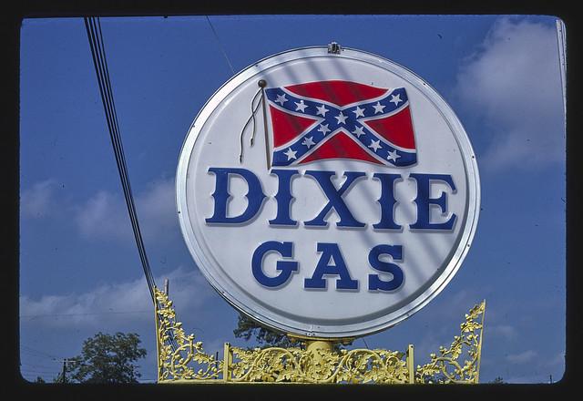 Dixie Gasoline sign, Louisville, Mississippi (LOC)
