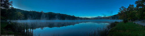 2019 virginia bathcounty douthatstatepark autumn landscape lake water sunrise nature iphone iphone11 panoramic clear air sky fog mountains outdoor outdoors forest woods tree trees beautyofwater commented favorited grouped