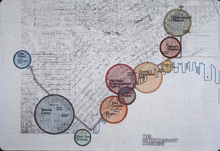 """Map of the """"Entertainment Crescent,"""" 1970s"""