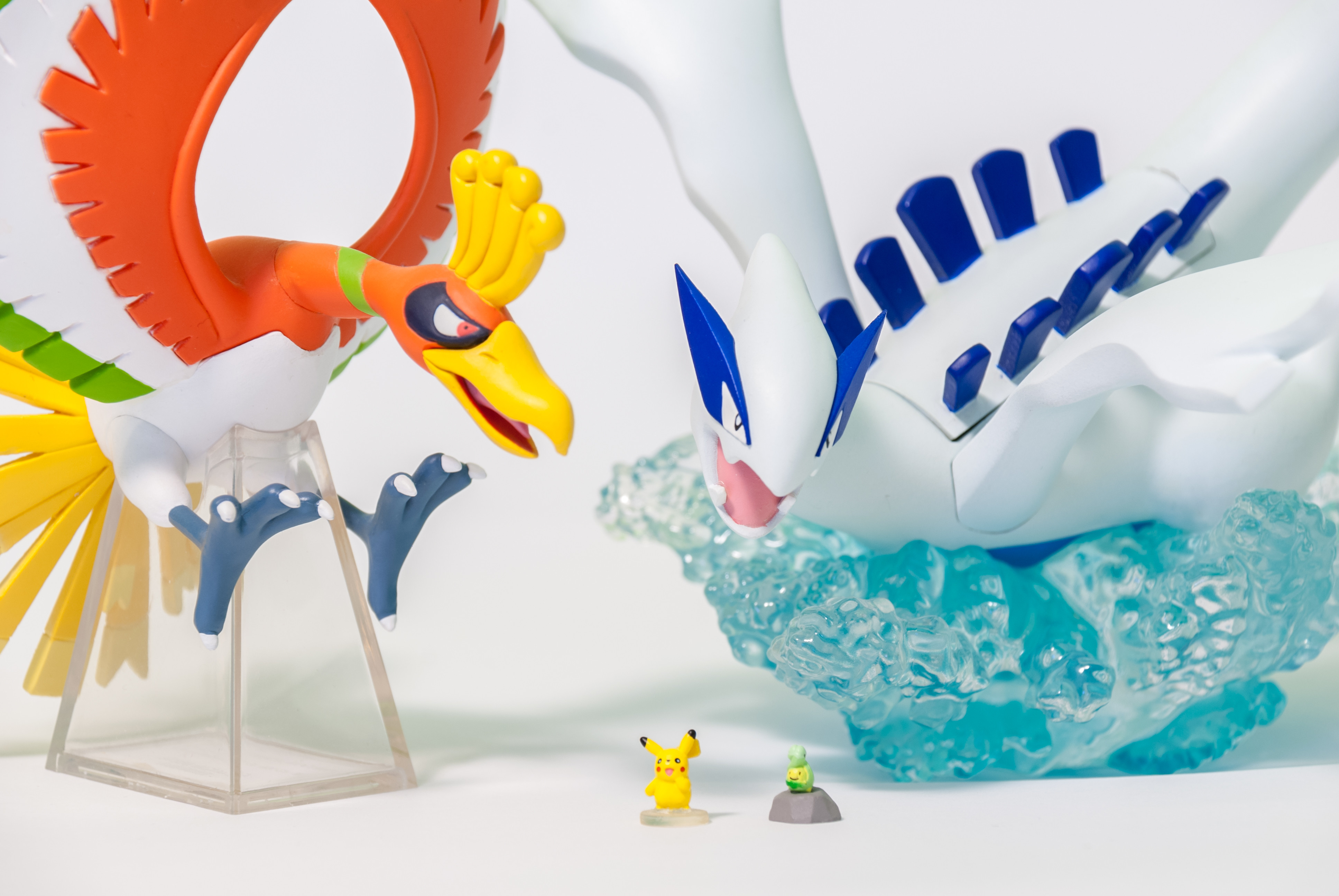 Lottery Ho-oh and DP 03 Budew and DP 12 Pikachu and DS Studio 16 Lugia