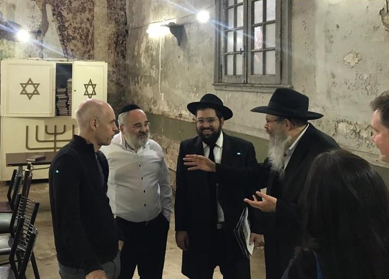 Horacio Rodriguez Larreta recorrio los Beit Knesset recuperados en el barrio de La Boca