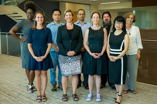 Pictured are, front row from left, Lindsay Maudlin, Karen McNeal, Michelle Worosz and Susan Pan and, back row from left Kimberly Mulligan-Guy, Di Tian, Puneet Srivastava, Christopher Burton and Nedret Billor.