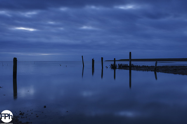 Blue hour at the Wadden Sea