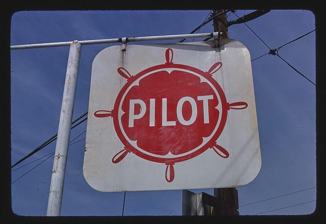 Pilot Gasoline sign, 5th & Broad Streets, Saint Pauls, North Carolina (LOC)