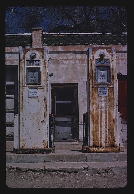 Gas pumps, Venita Street, Wauneta, Nebraska (LOC)