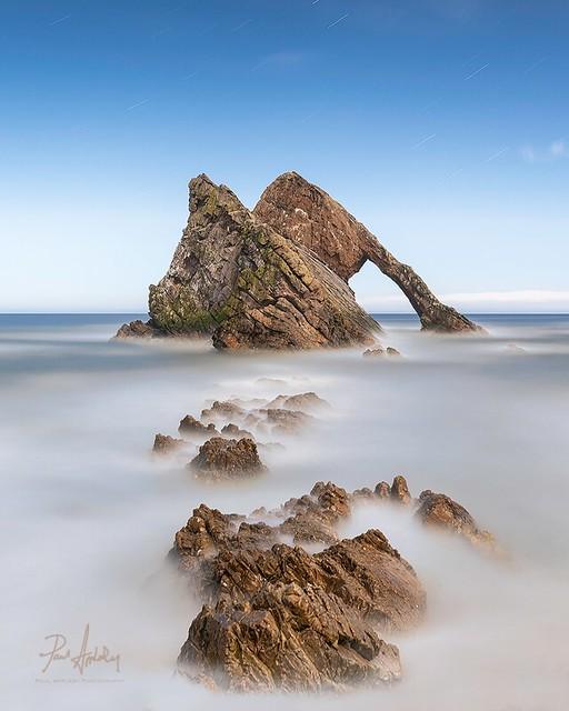 Bow Fiddle Rock, Portknockie - Moonlight