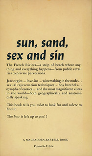 Macfadden Books 75-273 - Jean de Ballard - The French Riviera After Dark (back)