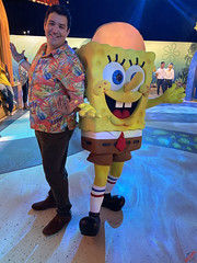 Brock Powell and Spongebob at the #BikiniBottomExperience Press Preview - IMG_1443
