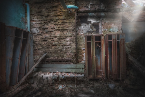 the abandoned changing room