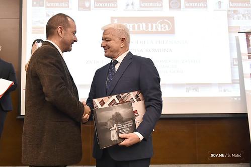 Duško Marković - dodjela nagrada časopisa Komuna