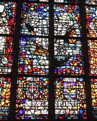 Stained-glass windows in the 'New' Church in Delft, Holland