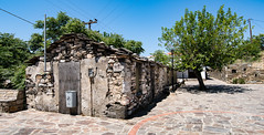 Ikaria/Ικαρία - Stone house on the square in Kampos