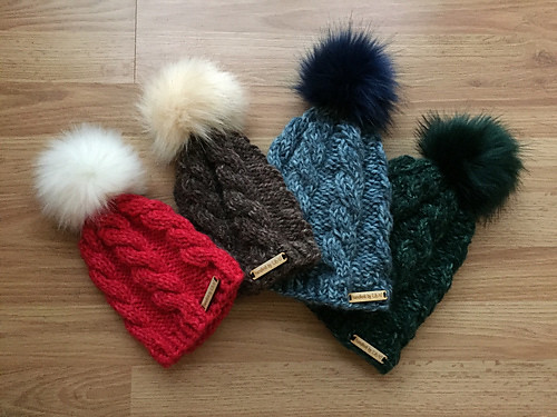 Christina has made a dent in her gift knitting with these Northward by tincanknits beanies!