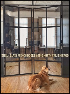 Custom Designed STEEL + Tempered Glass French-Doors I Designed + CREATED /Installed.