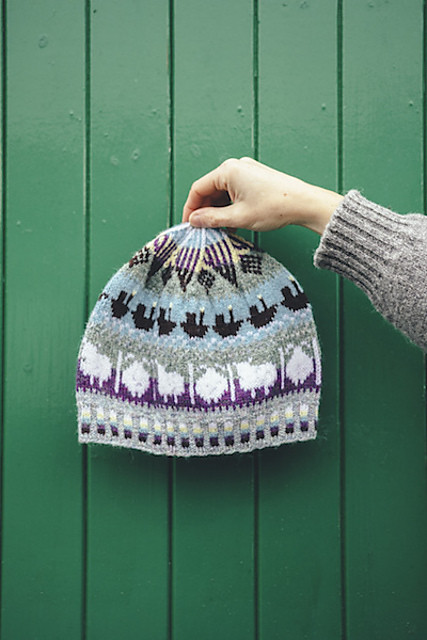 This year's hat for Shetland Wool Week is the Roadside Beanie by Oliver Henry and Sandra Manson