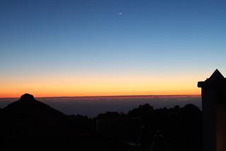 Sunset and Moon at Hacienda