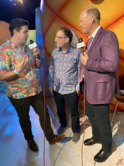 Brock Powell interviewing Tom Kenny & Bill Fagerbakke at the #BikiniBottomExperience Press Preview - IMG_1447