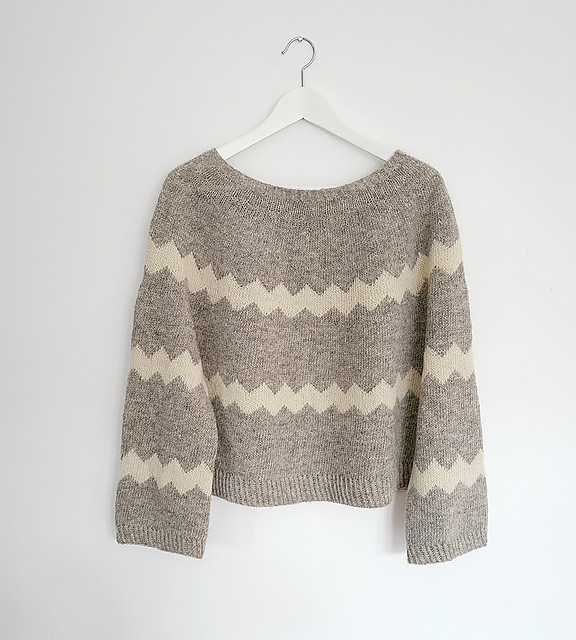 "Missoni Accomplished by Espace Tricot is a free top down sweater that ""feels like an elevated favourite sweatshirt - balancing just the right amount of comfort and style."""