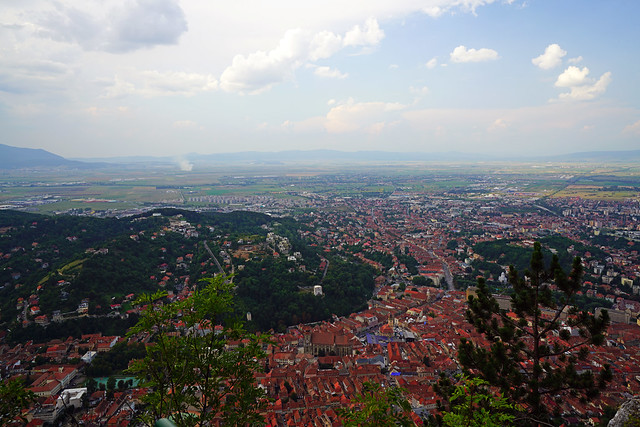 Scenic view from Tâmpa hill, Brasov