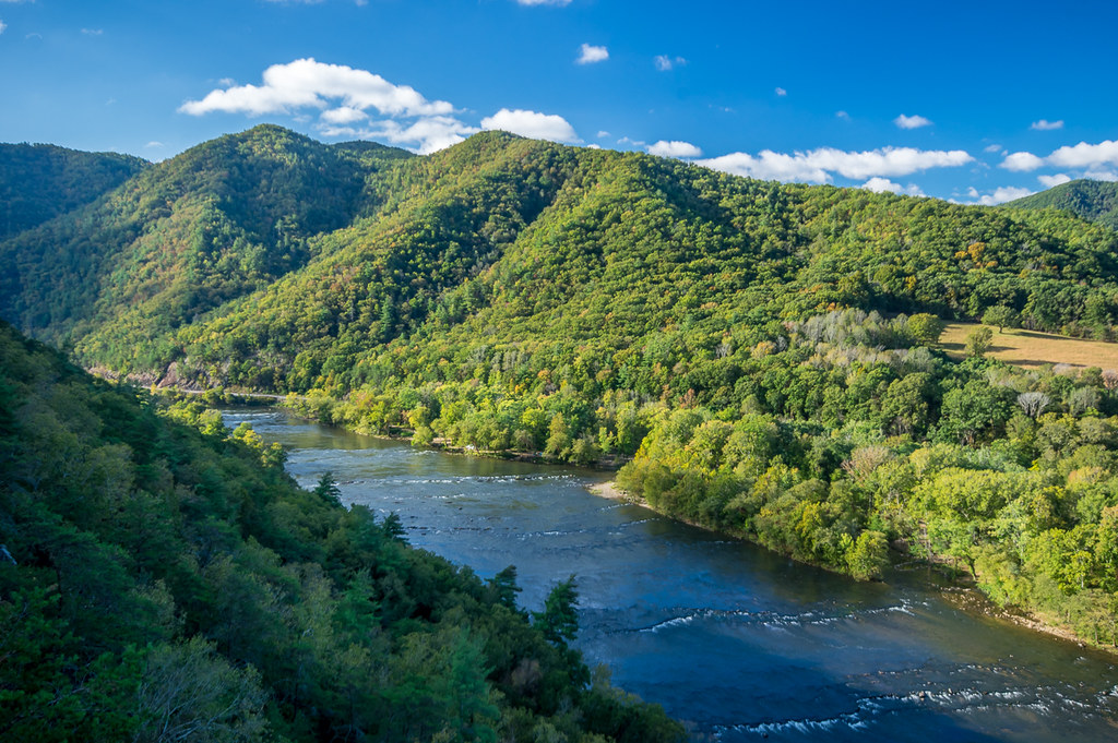 French Broad River from Lovers Leap rock