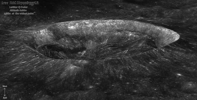 Lroc :  M174081337LR   'Larmor Q Crater'   [ Enhanced ]
