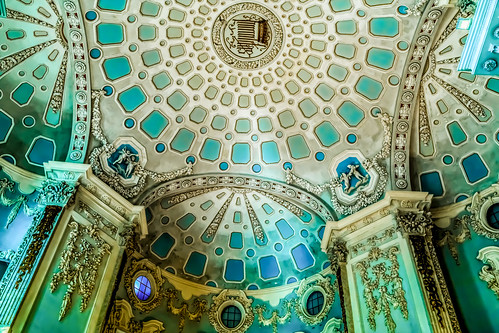 Ceiling in a mansion on an island in Lake Maggiore