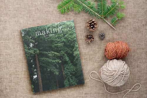 Now available in the shop is Making Magazine No 8 / Forest! This newest issue includes knitting and other craft projects inspired by the woods.