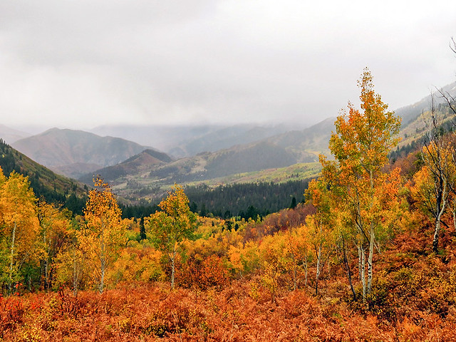 SUNDANCE, USA (Utah) - Wasatch Mountains in October/ САНДЭНС, США (Юта) - горы Уосатч в октябре