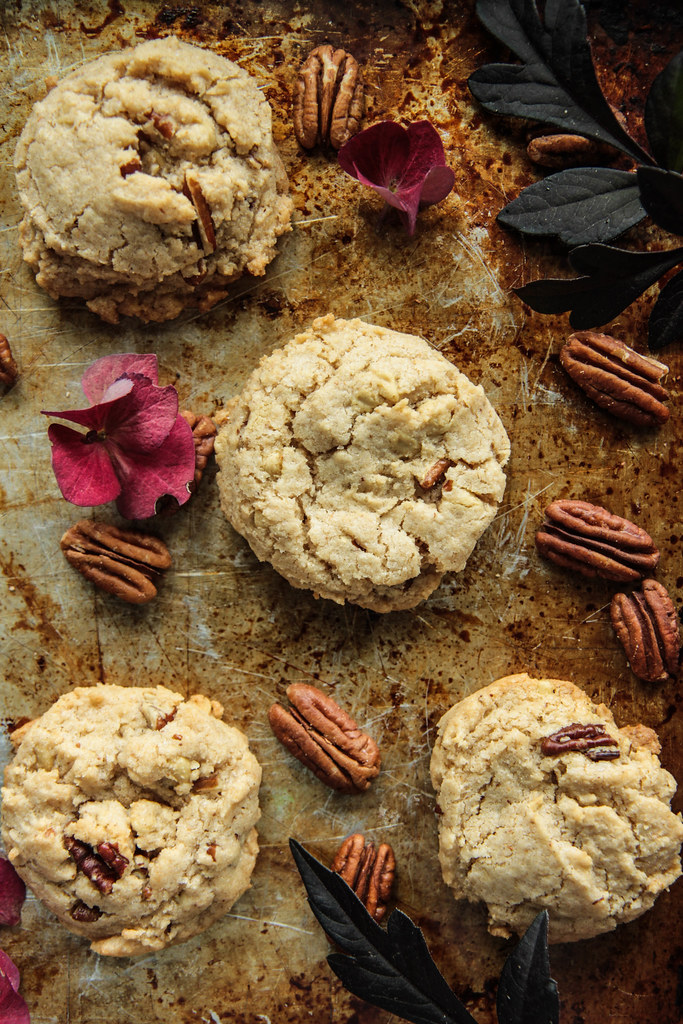 Butter Bourbon Pecan Cookies- Gluten-free and Vegan from Heatherchristo.com