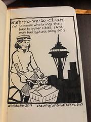 #inktober2019 18 October 2019: Metrovelocian. I'm making up my own words today!:grin: #inktober #metrovelo #metrovelocian