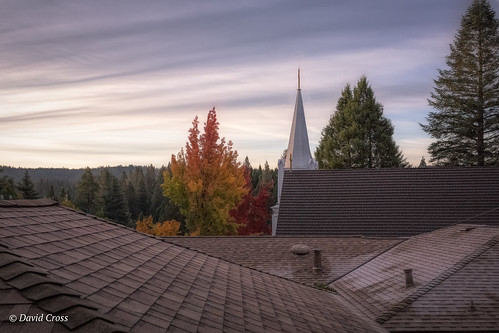 rooftops autumn rooflines churchspire nevadacity stcanicecatholicchurch landscape canon5dmarkiii lightroom6 canonef35mmf2isusm topazstudio california fall nevadacounty sierranevadafoothills