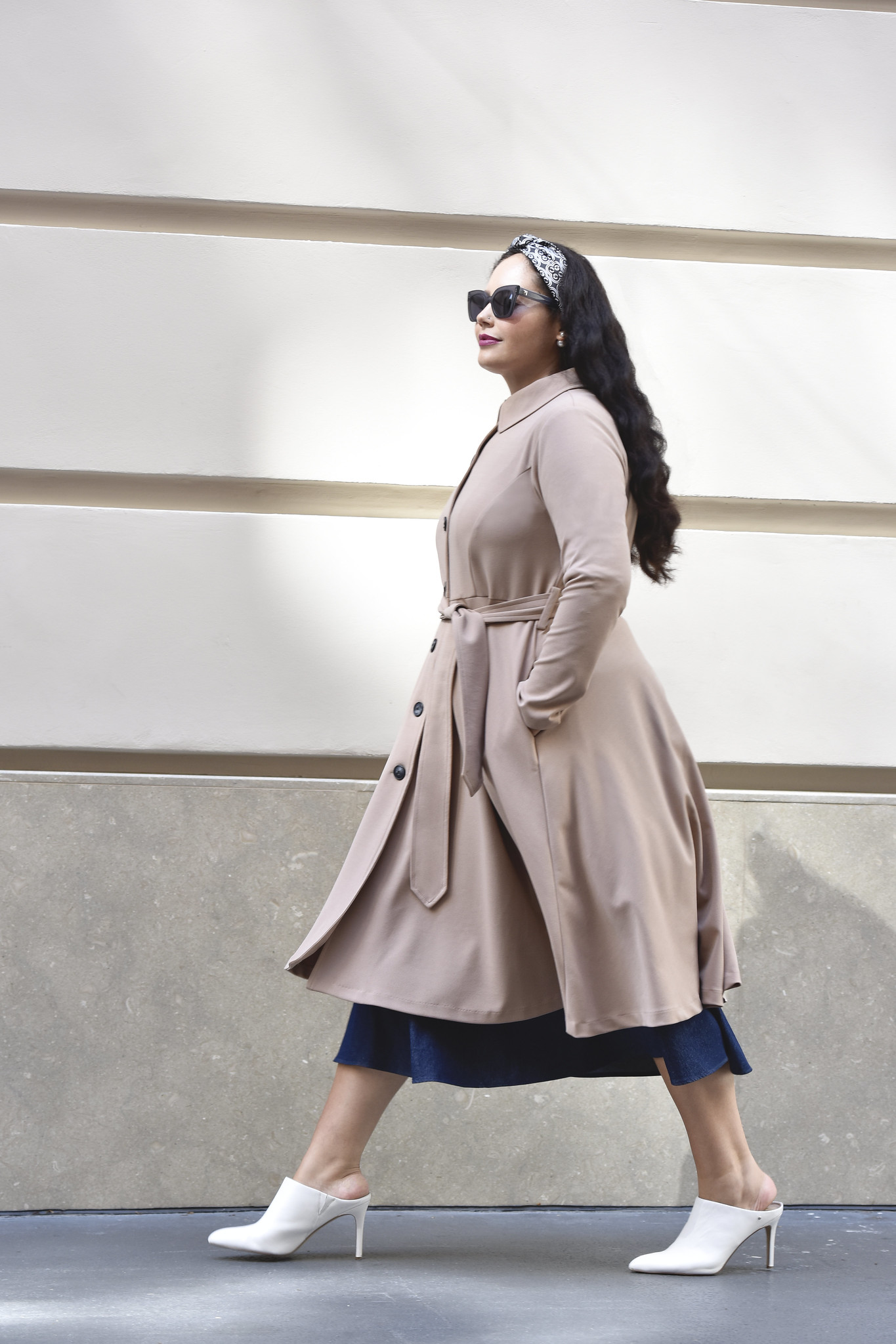 Girl Wth Curves Custom Button Trench #shopping #plussize #plus #size #fashion #style