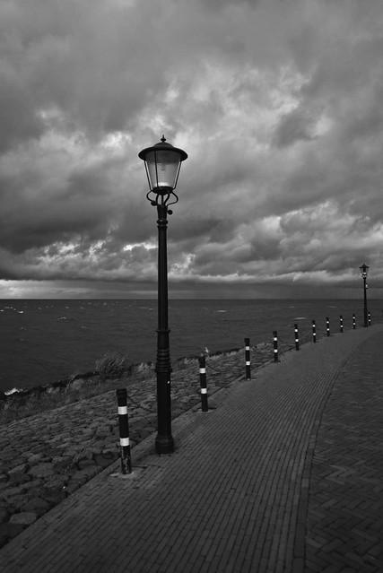 Black clouds in Urk Friesland NL