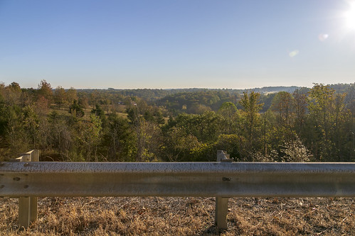 landscape harrisoncounty kentucky view scenic countryside topography hills trees edenshale road guardrail kelat