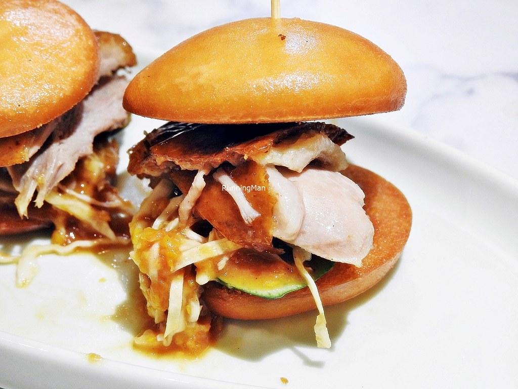 Mini Burger With Peking Duck Salad