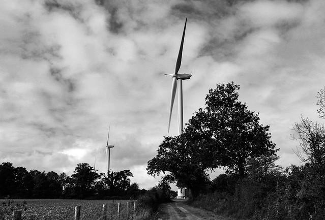 Parc d'éoliennes à Chauvé