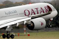 A350 A7-ALL Qatar Airways - Edinburgh Airport 18/10/19
