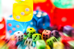 Dice in motion