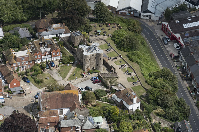 Rye Castle - Ypres Tower in Rye aerial image