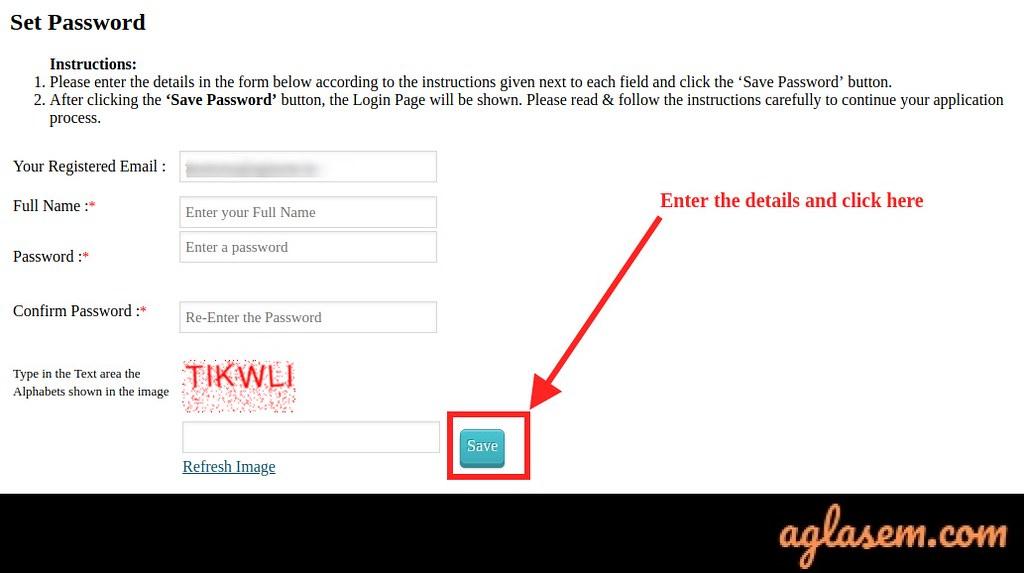 Tissnet 2020 registation password
