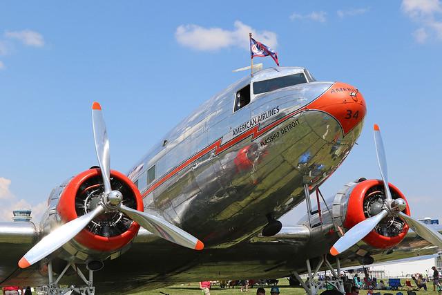 NC17334, Douglas, DC-3, American Airlines, Oshkosh 2018