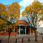 Autumn in Preston by the law courts