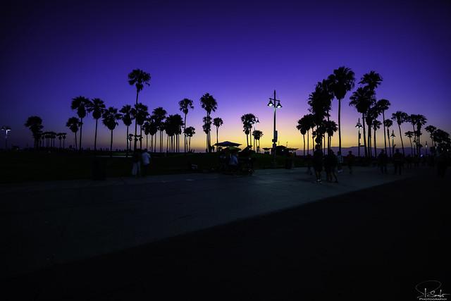 Evening Ocean Front Walk in Venice - Los Angeles - California - USA