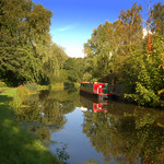 Seasonal scene down by the canal at Preston