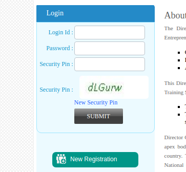 To make new registration click on that link