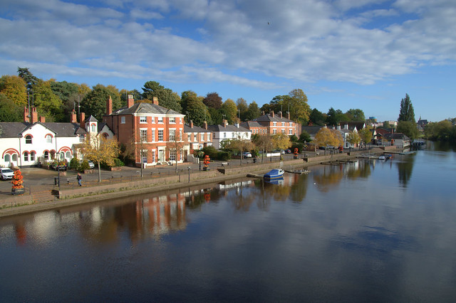 Scene down the river at Chester