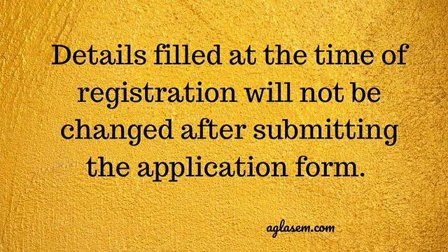 PGIMER Application Form details not to be changed.
